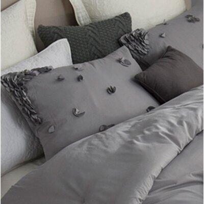 Kucera Petals Handsewn Sham Color: Gray
