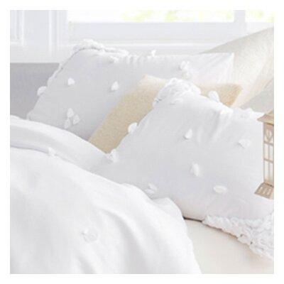 Kucera Petals Handsewn Sham Color: White
