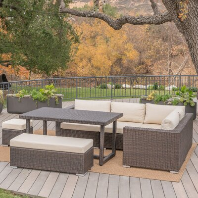 Rattan Sectional Set Cushions Frame 2218