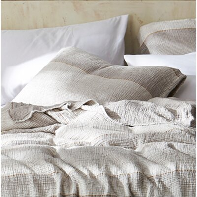 Crisler Portugal Soft Denim Stone Washed Sham Size: Standard, Color: Taupe