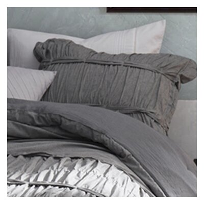 Faning Handcrafted Series Sham Size: King, Color: Gray
