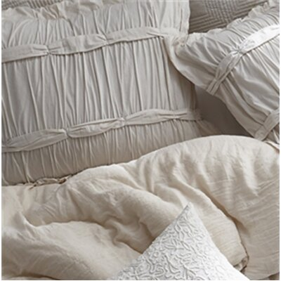 Faning Handcrafted Series Sham Size: Standard, Color: Off White
