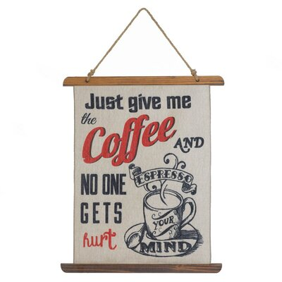 �Give Me Coffee' Print Textual Art 10018389