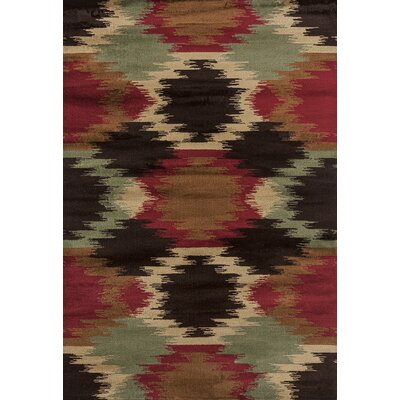 Pippen Tribe Turquoise/Red Area Rug Rug Size: Rectangle 53 x 72