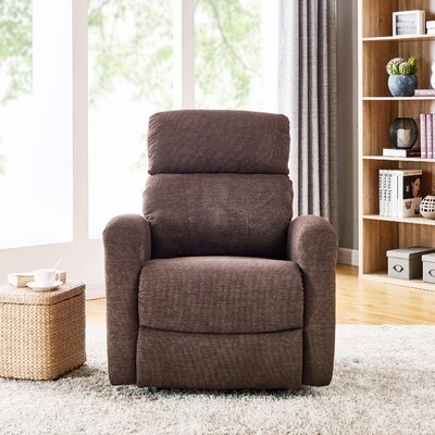 Wyant Manual Rocker Recliner Upholstery: Chocolate Brown
