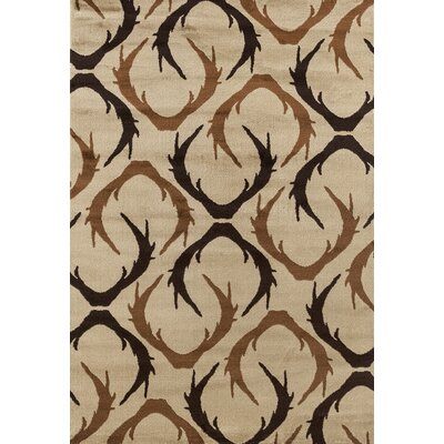 Pippen Beige/Brown Huntsman Trophy Area Rug Rug Size: Rectangle 110 x 3