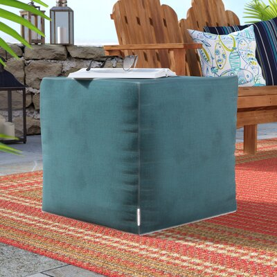 Adamstown Contemporary Outdoor/Indoor Pouf Ottoman Upholstery: Teal