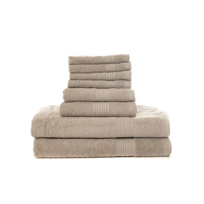 Mangine 8 Piece Towel Set Color: Taupe