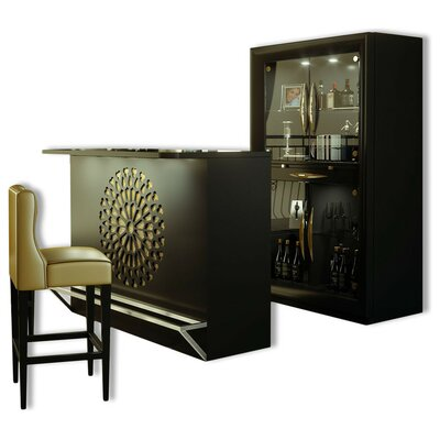 Fernwood Bar Set Color: High Gloss
