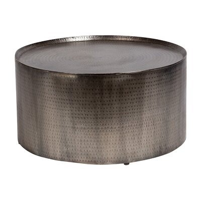 Rotonde Hammered Coffee Table Color: Nickel
