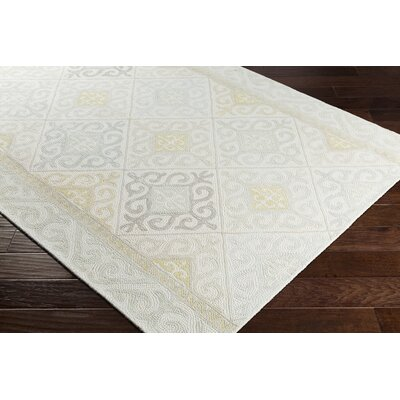 Knowland Hand-Tufted Wool Taupe/Sage Area Rug Rug Size: Rectangle 5 x 76