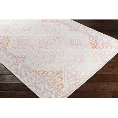 Knowland Hand-Tufted Wool Blush/Lilac Area Rug Rug Size: Rectangle 2 x 3