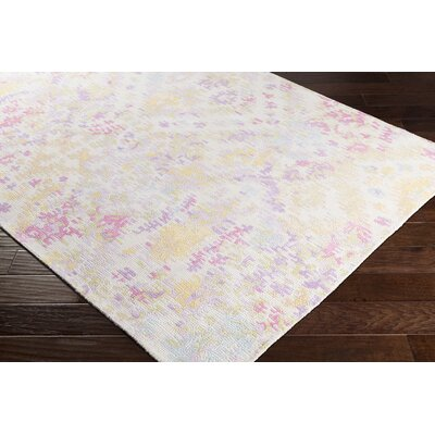 Knowland Hand-Tufted Wool Pink/Lilac Area Rug Rug Size: Rectangle 5 x 76