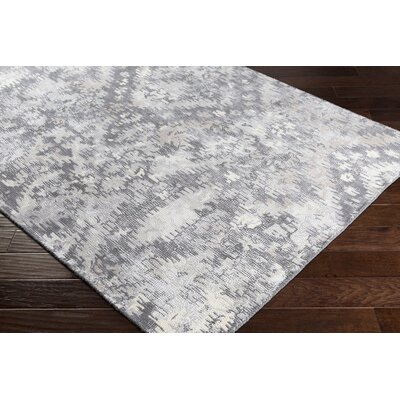 Knowland Hand-Tufted Wool Charcoal/Gray Area Rug Rug Size: Rectangle 8 x 10