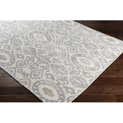 Knowland Hand-Tufted Wool Gray/Beige Area Rug Rug Size: Rectangle 5 x 76