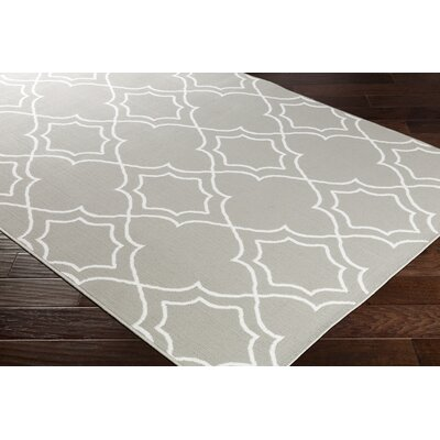 Gilead Trellis Taupe/White Indoor/Outdoor Area Rug Rug Size: Rectangle 53 x 76