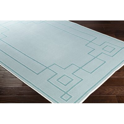 Pearce Aqua/Teal Indoor/Outdoor Area Rug Rug Size: Rectangle 76 x 109
