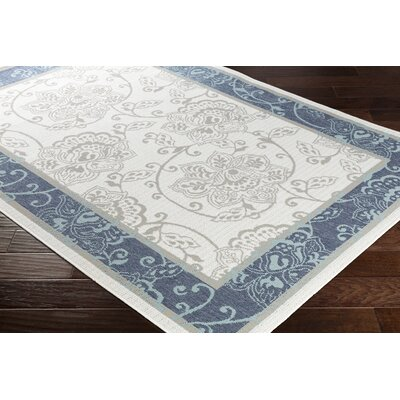 Pearce Floral Charcoal/White Indoor/Outdoor Area Rug Rug Size: Rectangle 89 x 129