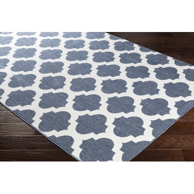 Pearce Trellis Charcoal/White Indoor/Outdoor Area Rug Rug Size: Rectangle 53 x 76