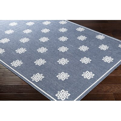 Pearce Charcoal/White Indoor/Outdoor Area Rug Rug Size: Rectangle 23 x 46