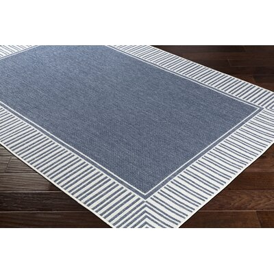 Oliver Charcoal/White Indoor/Outdoor Area Rug Rug Size: Rectangle 6 x 9