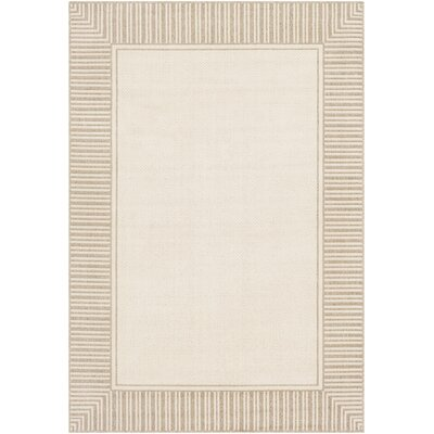 Oliver Camel/Cream Indoor/Outdoor Area Rug Rug Size: Rectangle 53 x 76