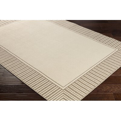 Oliver Camel/Cream Indoor/Outdoor Area Rug Rug Size: Rectangle 6 x 9