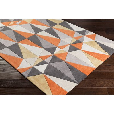 Conroy Hand-Tufted Orange Area Rug Rug Size: Rectangle 2 x 3