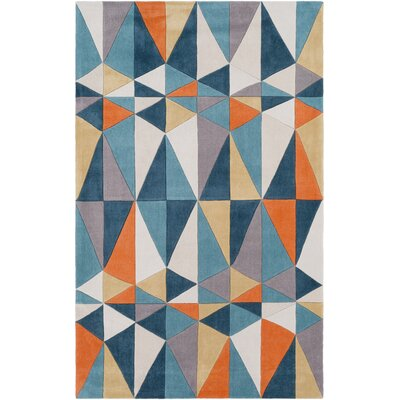 Conroy Hand-Tufted Teal/Taupe Area Rug Rug Size: Rectangle 8 x 11