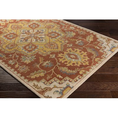 Stanford Hand-Tufted Wool Rust Area Rug Rug Size: Rectangle 5 x 8