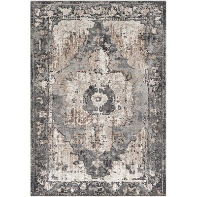 Almendarez Vintage Floral Camel Charcoal Area Rug Rug Size: Rectangle 710 x 103