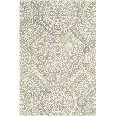 Eady Hand Hooked Wool Taupe/Cream Area Rug Rug Size: Rectangle 2 x 3