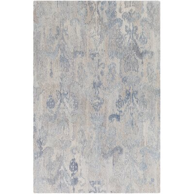 Eady Hand Hooked Wool Dark Blue/Ice Blue Area Rug Rug Size: Rectangle 2 x 3