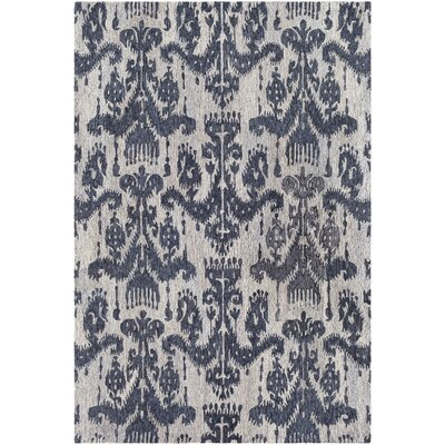 Eady Hand Hooked Wool Blue/Navy Area Rug Rug Size: Rectangle 2 x 3