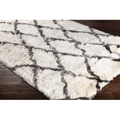 Cianciolo Hand-Tufted Trellis Cream Area Rug Rug Size: Rectangle 8 x 10