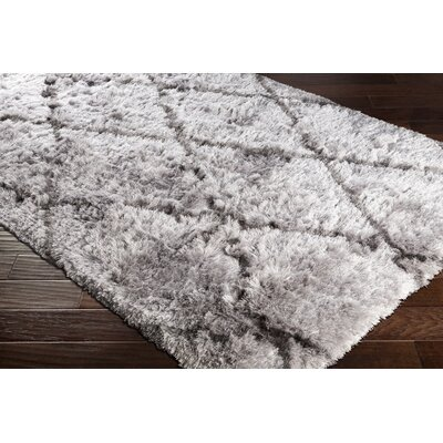 Cianciolo Trellis Hand-Tufted Gray/Charcoal Area Rug Rug Size: Rectangle 8 x 10