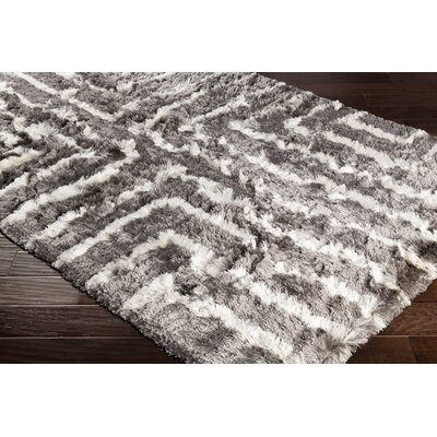 Witherell Hand-Tufted Gray/Cream Area Rug Rug Size: Rectangle 5 x 76