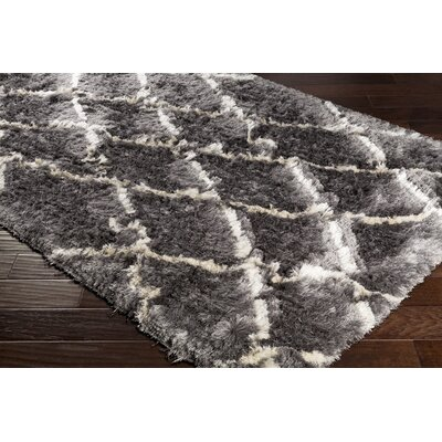 Cianciolo Trellis Hand-Tufted Gray/Cream Area Rug Rug Size: Rectangle 5 x 76