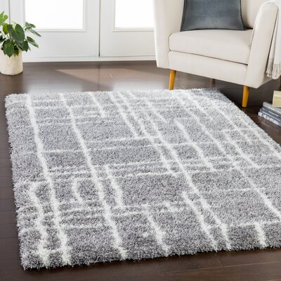 Zachariah Bohemian Taupe/Cream Area Rug Rug Size: Rectangle 53 x 73