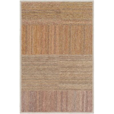 Ciccone Hand-Tufted Wool Saffron/Orange Area Rug Rug Size: Rectangle 5 x 76