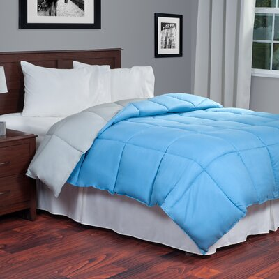 Reversible Fill Warmth Down Alternative Comforter Color: Blue / Grey