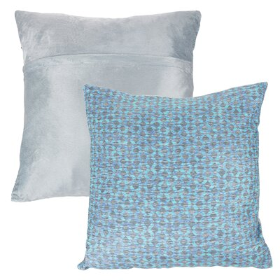 Mulford Diamond Throw Pillow Color: Blue
