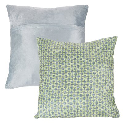 Mulford Diamond Throw Pillow Color: Green