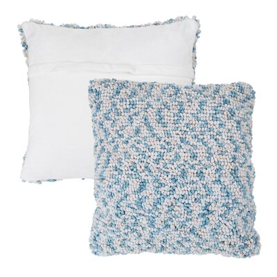 Mulkey Loop Throw Pillow Color: Blue