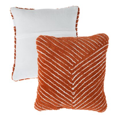 Mullan Stripe Throw Pillow Color: Orange