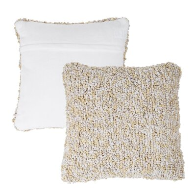 Mulkey Loop Throw Pillow Color: Beige
