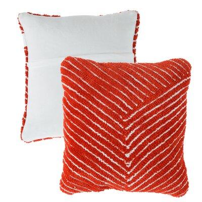 Mullan Stripe Throw Pillow Color: Red