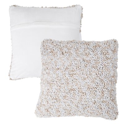 Mulkey Loop Throw Pillow Color: Ivory