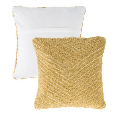 Mullan Stripe Throw Pillow Color: Yellow