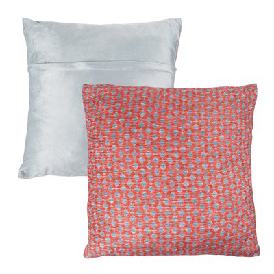 Mulford Diamond Throw Pillow Color: Red